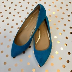🆕️Banana Republic teal suede flats size 6.5